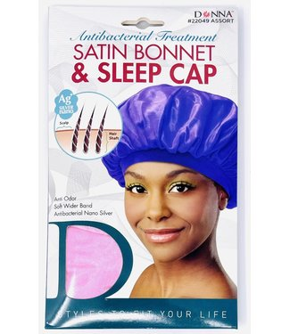 Donna Satin Bonnet & Sleep Cap 22049 Assorted