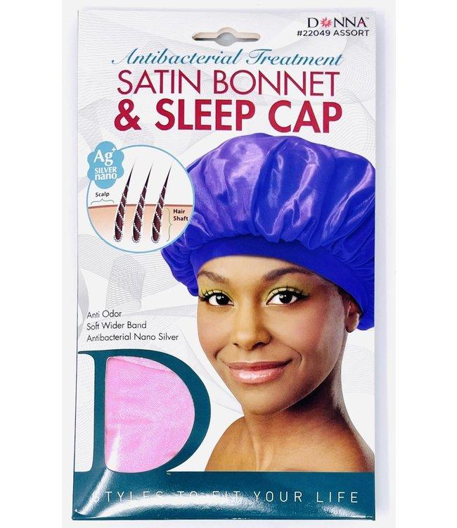 Donna Satin Bonnet & Sleep Cap 22049 Assorted