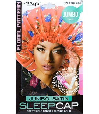 Magic Collection Jumbo Satin Sleep Cap - Assorted Floral Pattern  (2261)