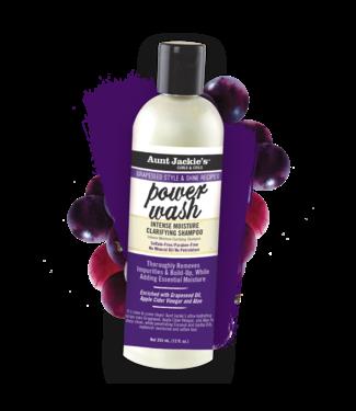 Aunt Jackie's Power Wash Intense Moisture Clarifying Shampoo w/apple cider & vinegar (12oz)