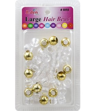 Eden Jumbo Colored Beads - Gold & Clear