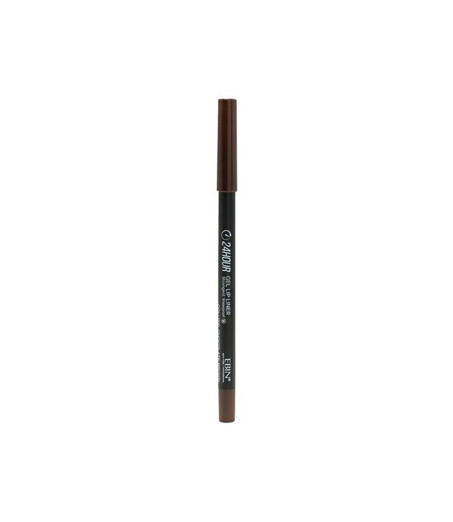 24 Hour Gel Lip Liner Pencil - Chocolate Brown