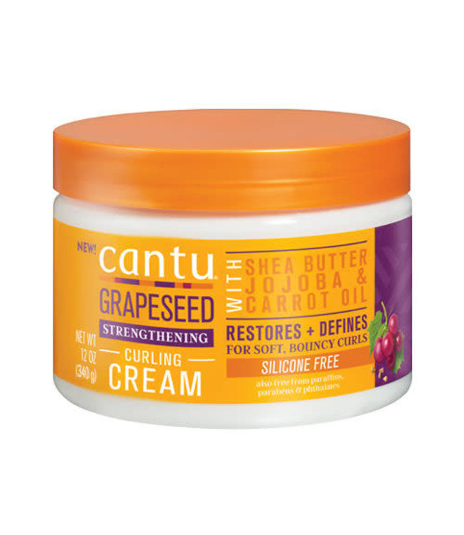 Cantu Grapeseed Strengthening Silicone Free Curling Cream 12oz