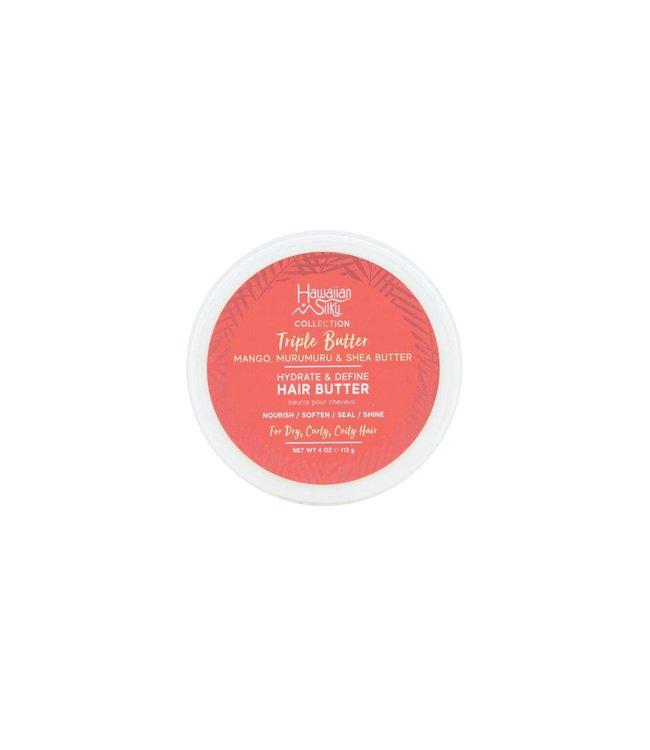 Hawaiian Silky Triple Butter Hydrate & Define Hair Butter (4oz)