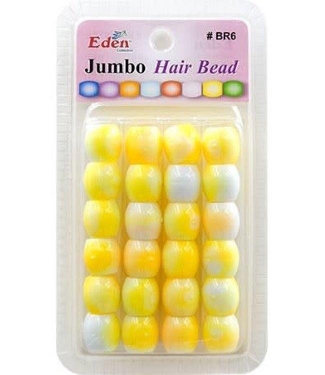 Eden Eden Jumbo 2 Tone Color Beads Yellow Tone BR6-WYEL