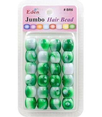 Eden Eden Jumbo 2 Tone Color Beads Green Tone BR6-WGRE