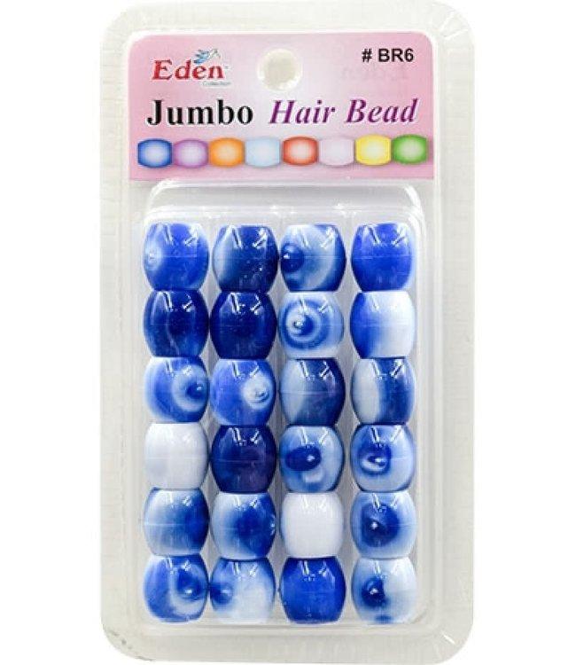 Eden Eden Jumbo 2 Tone Color Bead Blue Tone BR6-WBLU