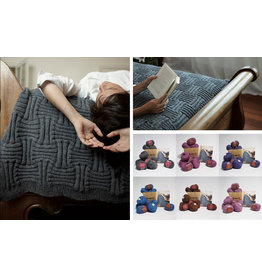 Ella Rae Ella Rae: Basket Weave Throw Kit,