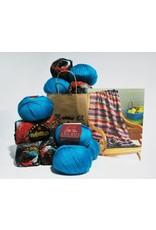 Noro Noro & Ella Rae: Woven Stitch Blanket Kit,
