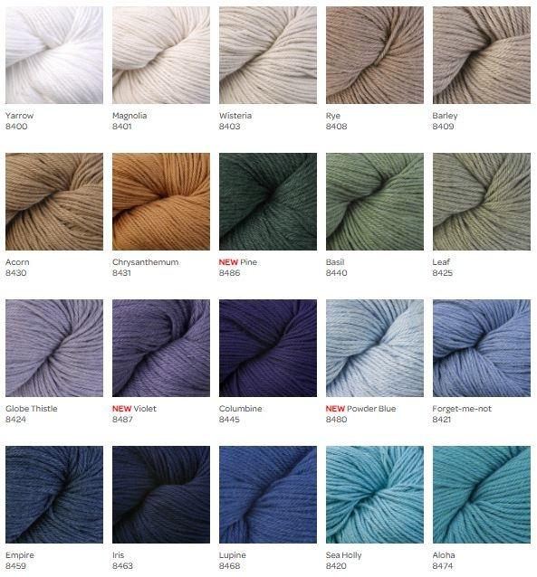 Berroco Pima 100 first 20 colors