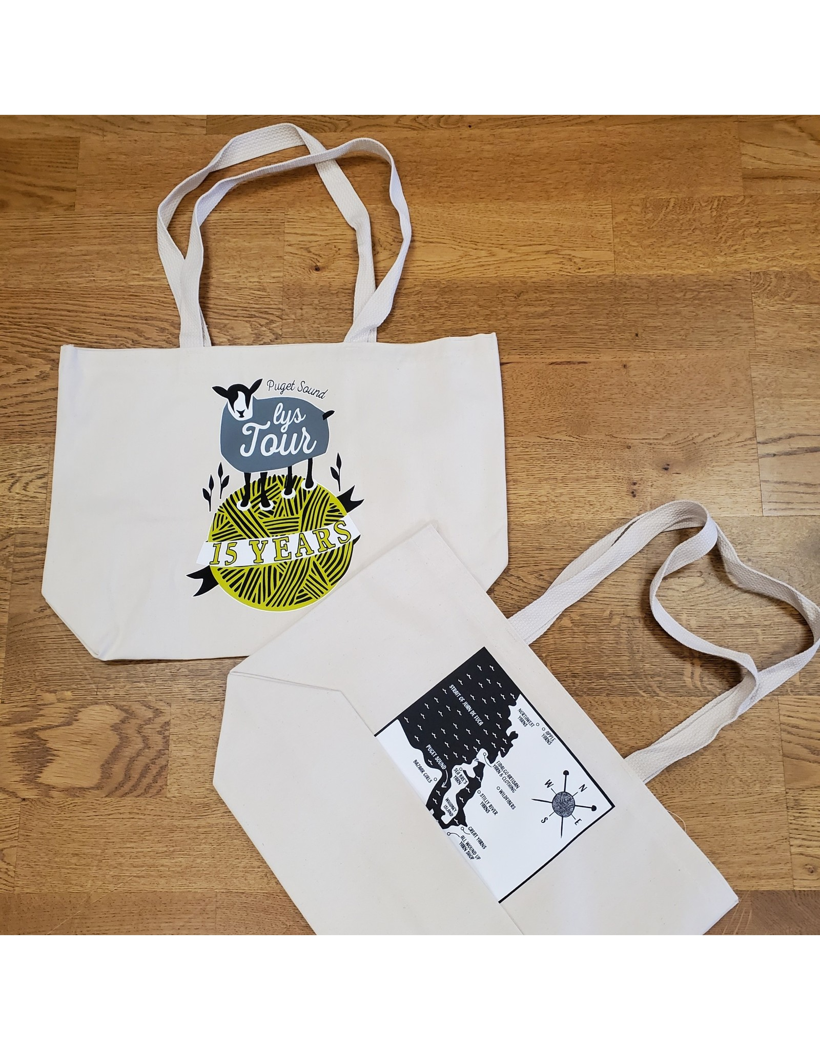 Puget Sound Yarn Tour LYS 15th Anniversary Tote (2021)