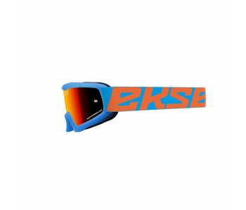 EKS Brand XGROM (youth goggle)  Cyan Blue- flo orange/ Red  lens