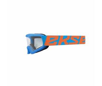 EKS Brand XGROM (youth goggle) Cyan Blue- flo orange / Clear lens