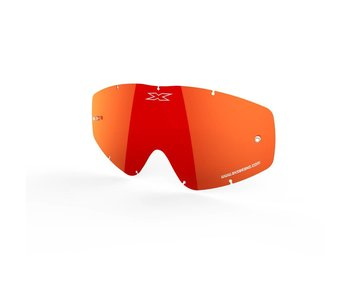 EKS Brand GO-X ANTI-FOG LENS -  RED/MIRROR