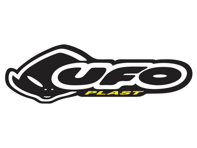 UFO Plast Front Number plate USD fork BLACK >2001