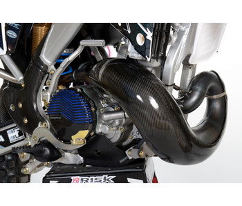 Extreme Carbon EXHAUST GUARD Carbon/Kevlar MX 250/300cc 19... Pro Circuit