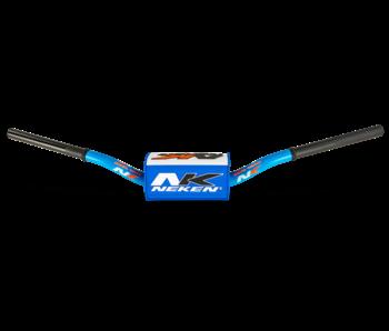 Neken handlebar OS Bar 85cc Low   blue/white bar pad