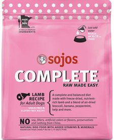 Sojos Grain-Free Freeze-Dried Complete Lamb 1.75 lb