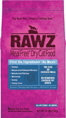 Rawz Natural Pet Food Rawz Cat Salmon, Ckn, Whtfsh 1.75lb
