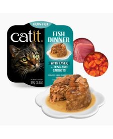 Catit Fish Dinner Tuna & Carrots 2.8 oz