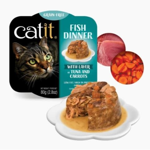 Catit Catit Fish Dinner Tuna & Carrots 2.8 oz