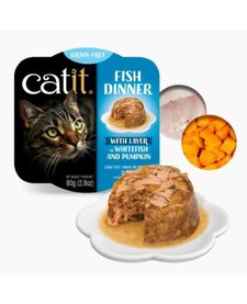 Catit Fish DInner Whitefish & Pumpkin 2.8 oz