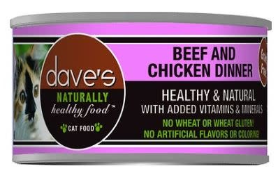 Dave's Dave's Cat Beef & Chicken 3 oz