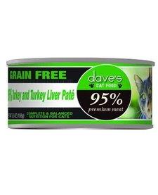 Dave's Cat 95% Turkey & Liver 5.5 oz
