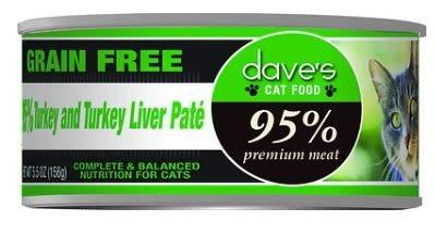 Dave's Dave's Cat 95% Turkey & Liver 5.5 oz