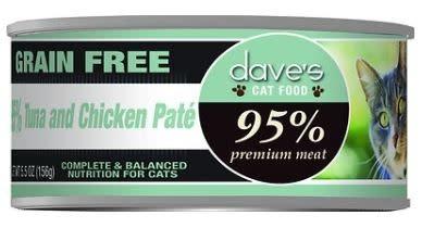 Dave's Dave's Cat 95% Tuna & Chicken 5.5 oz