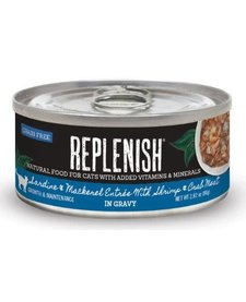 Replenish Cat GF Sardine & Mackerel 2.8 oz Case