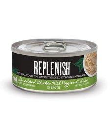 Replenish Cat Shredded Chicken & Veggies 2.8 oz Case