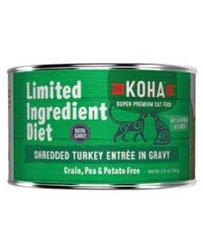 Koha Cat LID Shredded Turkey 5.5 oz Case