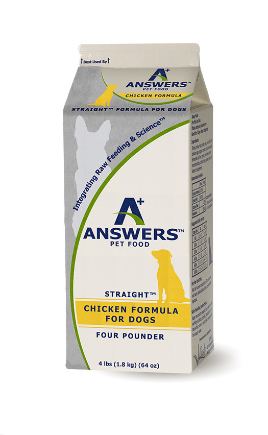 Answers Pet Food Answers Straight Chicken 4 lb