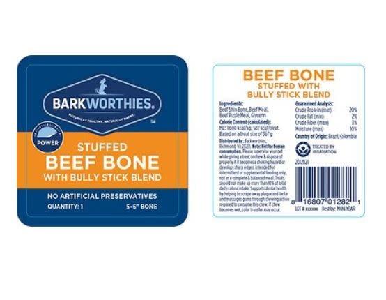 "Barkworthie's Barkworthie's Stuffed Shin Bully 5-6"""