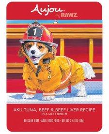 Aujou Dog Aku Tuna & Beef 2.46 oz Case