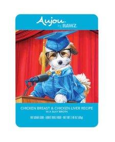Aujou Dog Chicken & Chicken Liver 2.46 oz Case