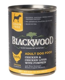BlackWood Chicken, Liver & Pumpkin 13 oz Case