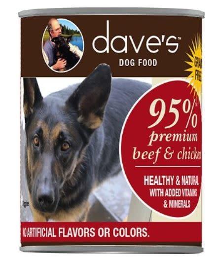Dave's Dave's Dog 95% Beef & Chicken 12.5 oz