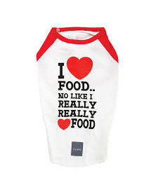 FuzzYard I Love Food T-shirt Size 3