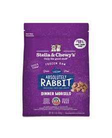 Stella & Chewy Absolutely Frozen Raw Rabbit Morsels 1lb