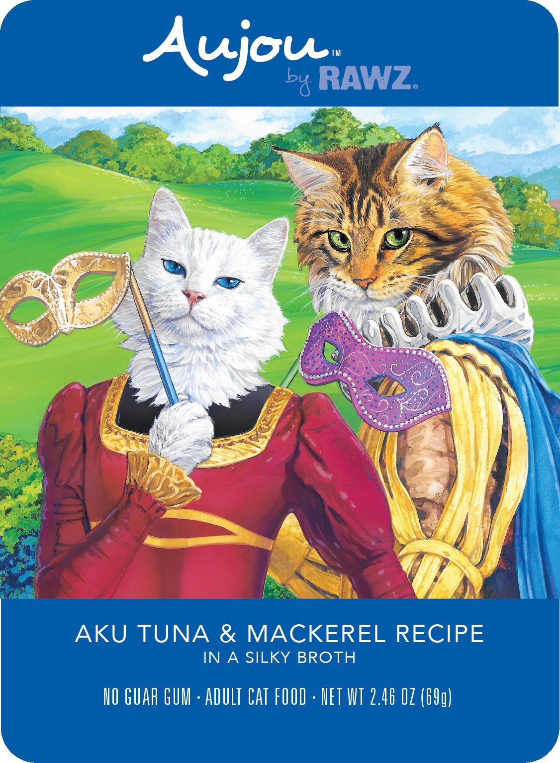 Aujou (Rawz) Aujou Cat Aku Tuna & Mackerel 2.46 oz