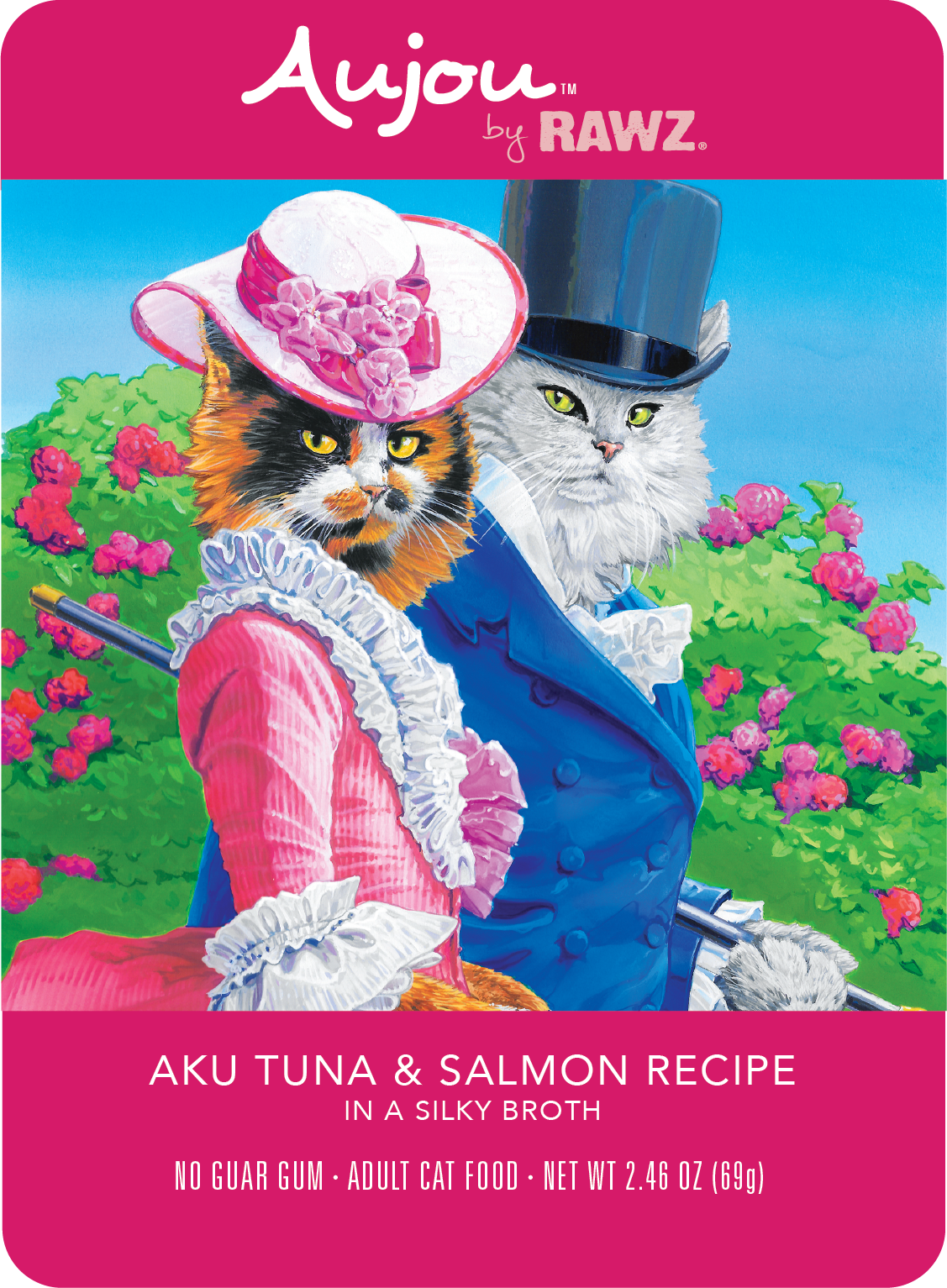 Aujou (Rawz) Aujou Cat Aku Tuna & Salmon 2.46 oz Case