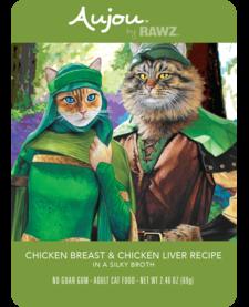 Aujou Cat Chicken & Chicken Liver 2.46 oz Case