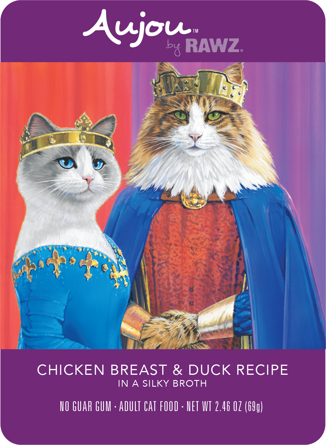 Aujou (Rawz) Aujou Cat Chicken Breast & Duck 2.46 oz Case