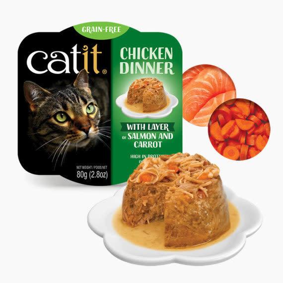 Catit Catit Chicken Dinner  Salmon & Carrot 2.8 oz