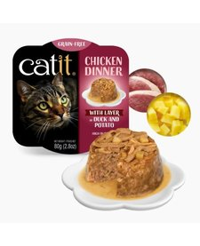 Catit Chicken Dinner Duck & Potato 2.8 oz