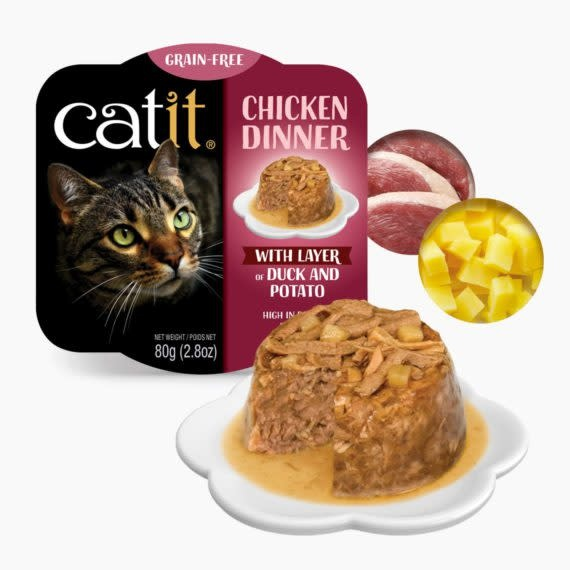 Catit Catit Chicken Dinner Duck & Potato 2.8 oz