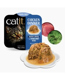 Catit Chicken Dinner Tuna & Kale 2.8 oz