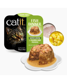 Catit Fish Dinner Tilapia & Potato 2.8 oz